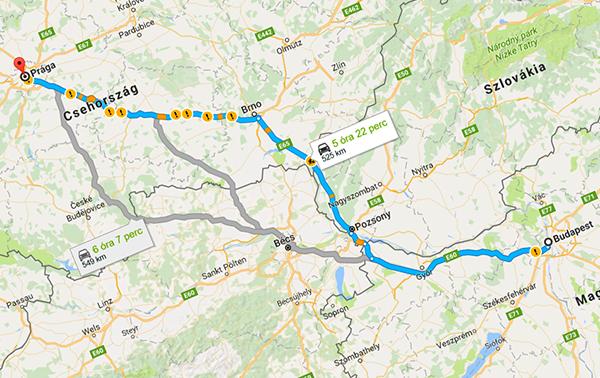 budapest prága térkép Prága autóval | Irány Prága budapest prága térkép