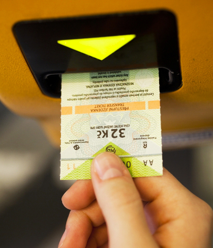 Prága tömegközlekedés jegy